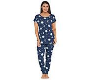 Munki Munki Printed Jersey Knit Pajama Set - A305679
