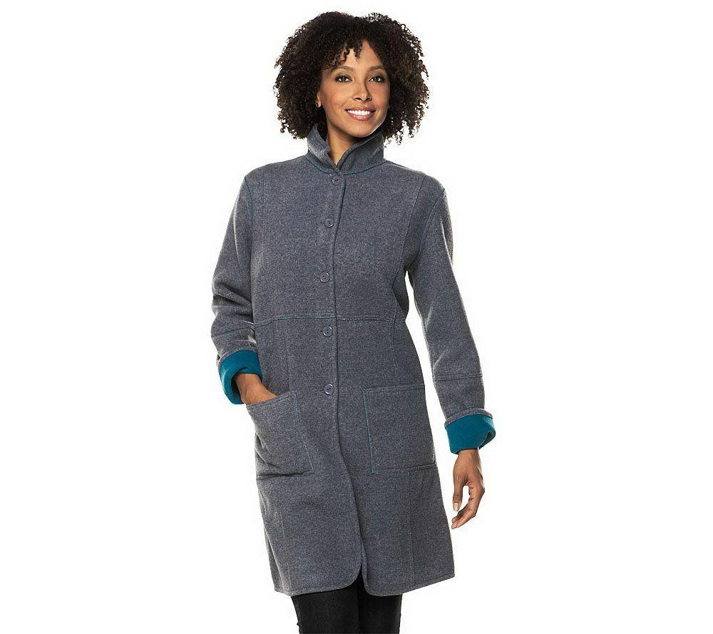 Susan Graver Reversible Fleece Coat - Page 1 — QVC.com