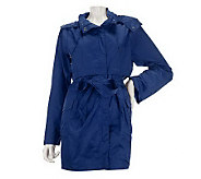 Joan Rivers Water Resistant Hooded Anorak Jacket - A221980