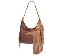 Muxo by Camila Alves Leather Square Hobo w/Fringe - A222580