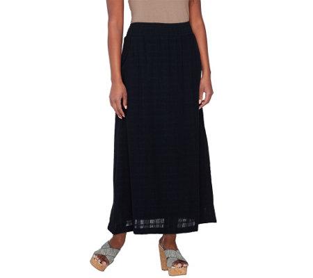 denim co fully lined pull on gauze maxi skirt a231880