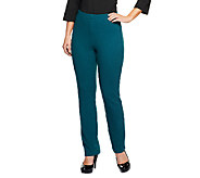 George Simonton Textured Knit Pull- On Straight Leg Pants - A236280