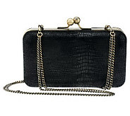 As Is Nicole Richie Collection Lizard Embossed Leather Clutch - A237480