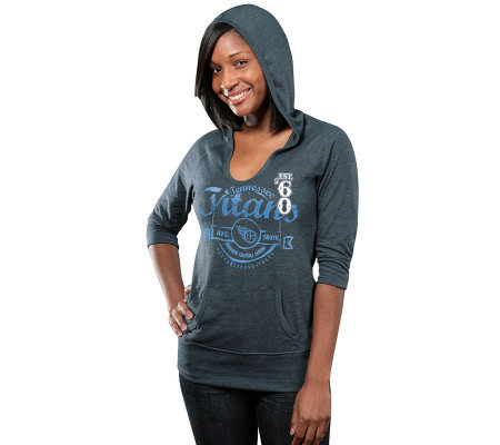 NFL Tennessee Titans Women's 3/4-Sleeve Triblend Hoodie