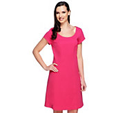 Isaac Mizrahi Live! 24/7 Stretch Short Sleeve Dress - A252880