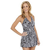 Liz Claiborne New York Paisley Print Swim Dress - A253380