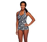 DreamShaper by Miraclesuit Caitlin Paisley 1-Piece Halter Swimsuit - A253780