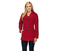 Liz Claiborne New York Double Breasted Peacoat - A257180