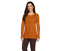 Linea by Louis DellOlio Whisper Knit Zip Front Cardigan - A257380