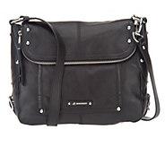 As Is B. Makowsky Epona Pebble Leather Messenger Bag - A257580