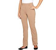 Susan Graver Petite Milano Knit Jean Style Boot Cut Pants - A257980