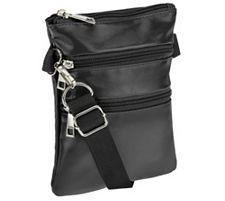 Hipzbag Faux Leather Utility Bag with RFID Protection