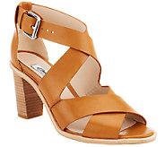 Clarks Narrative Leather Block Heel Pumps - Oriana Bess - A261980