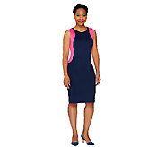 View by Walter Baker Sleeveless Scuba Dress with Panel - A263380