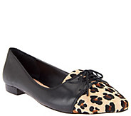 As Is Sole Society Lillie Oxford Leather and Haircalf Flats - A263480