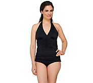 Spanx Ruched Halter Tankini Swimsuit Top - A264880
