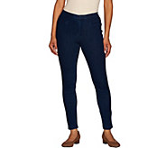 Isaac Mizrahi Live! Regular Knit Denim Ankle Jeans - A266880