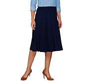 Susan Graver Dolce Knit Comfort Waist Skirt with Seaming Detail - A273480