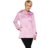 Joan Rivers Cotton Sateen Swing Jacket - A273780