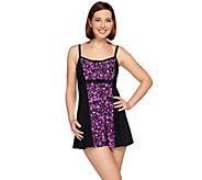 Fit 4 U Ds & Es Double Bow Bella Rosa Swim Dress - A274880