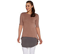 LOGO by Lori Goldstein Regular Knit Top and Tank Twin Set - A274980