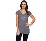 AnyBody Loungewear Cozy Knit Message T-Shirt - A275080