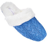 Carole Hochman Plushfill Cashmere Cable Knit Mule Slippers - A275180