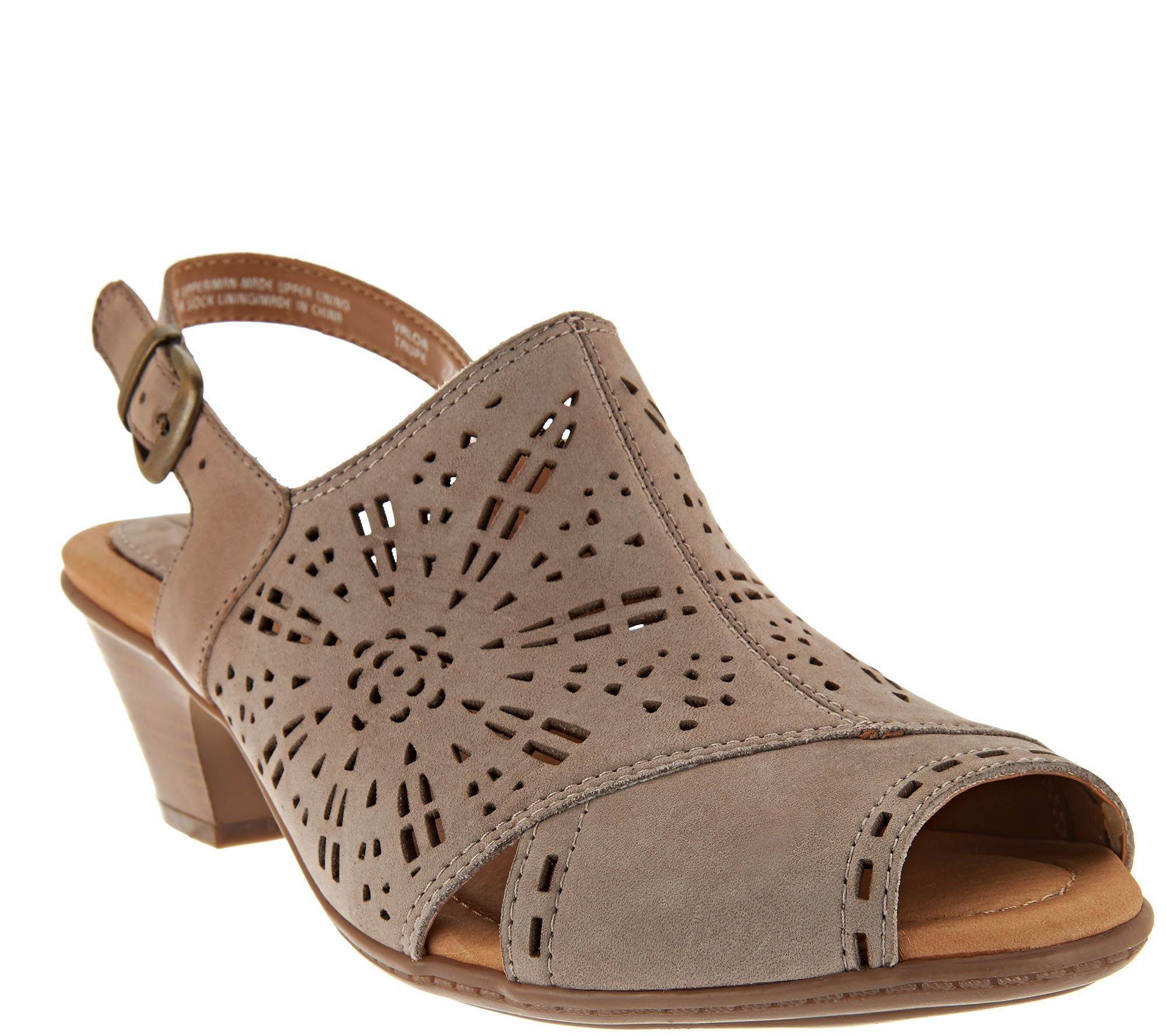 Earth Leather Perforated Sling-back Sandals - Valor - A276880