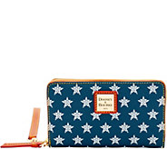 Dooney & Bourke MLB Astros Zip Around Phone Wristlet - A280880