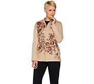 Susan Graver Weekend French Terry Embellished Printed Jacket - A281180