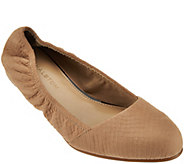 As Is H by Halston Snake Embossed Leather Slip-on - A283580