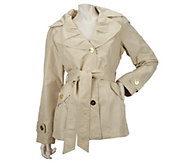 As Is Centigrade Packable Trench Jacket with Self Belt - A285880