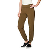 Women with Control Petite Foldover Waist Knit Pants - A287080