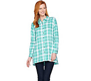 Joan Rivers Plaid Swing Style Shirt - A287180
