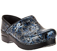 As Is Dansko Professional Leather Clogs in Fashion Colors - A287580