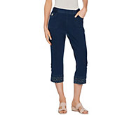 Quacker Factory DreamJeannes Convertible Capris with Embellishment - A289680