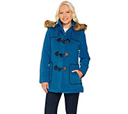 As Is C. Wonder Faux Wool Zip Front Coat with Toggle Detail - A291180