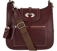 As Is Dooney & Bourke Florentine Toscana Front Zip Crossbody - A292880