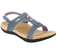 As Is Spenco Tora Orthotic Leather Sandals w/ Back Strap - A298580