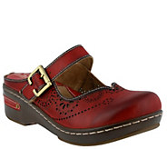 Spring Step LArtiste Open Back Leather Clogs -Aneria - A355980