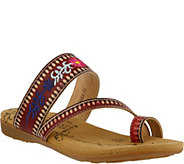 LArtiste by Spring Step Leather Thong Sandals- Akhila - A356680