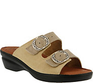 Flexus by Spring Step Suede Slide Sandals - Coast - A356980