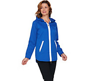 Linea Leisure by Louis DellOlio Zip Front Jacket w/ Hood - A225481
