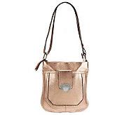 B. Makowsky Glove Leather Zip Top Convertible Crossbody Bag - A228981