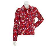 Isaac Mizrahi Live! Vintage Floral Print Knit Jacket - A233881