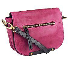 Tignanello Glazed Vintage Saddle Bag with Flap