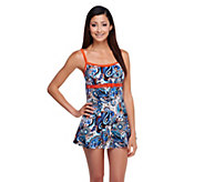 Fit 4 U Ds and Es Soho Paisley Double Bow Swim Dress - A252581