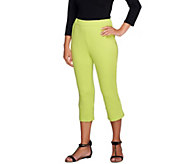Bob Mackies Pull-On Knit Capri Pants - A254281