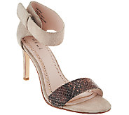 G.I.L.I. Leather Snake Print Stilettos - Nik - A254581