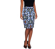 Linea by Louis DellOlio Tile Print Pencil Skirt - A255181